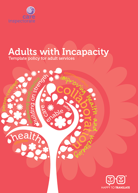 Adults with incapacity: Template policy for adult services image