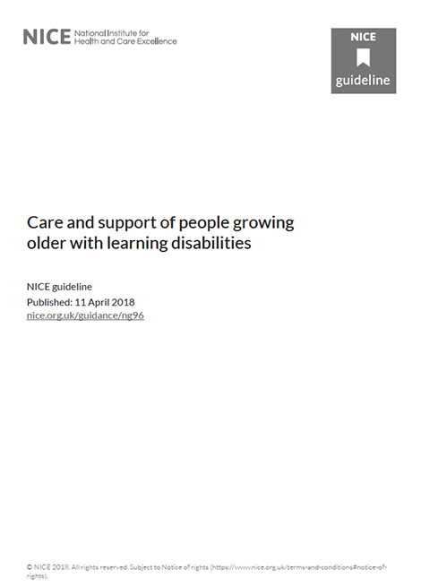 Care and support of people growing older with learning disabilities image