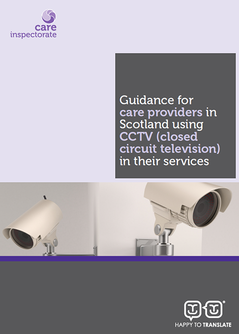 Guidance for care providers in Scotland using CCTV (closed circuit television) in their services image