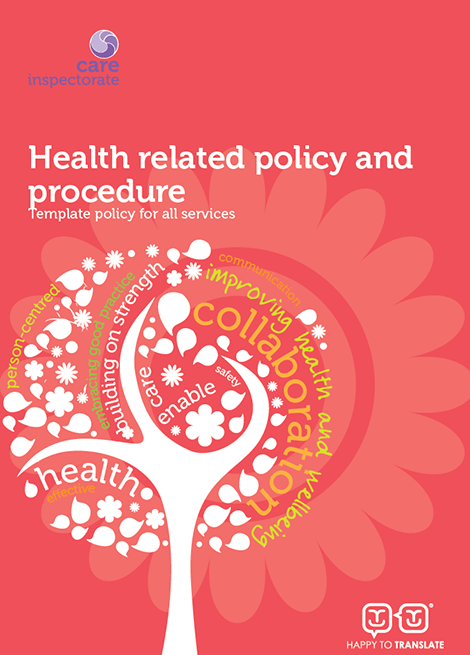 Health related policy and procedure: Template policy for all services image