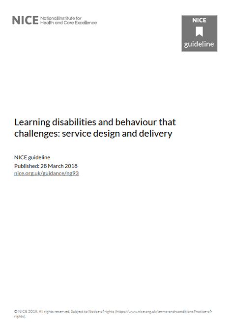 Learning disabilities and behaviour that challenges: service design and delivery image