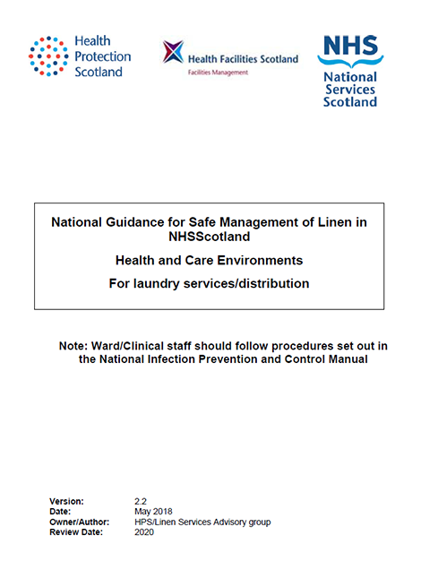National Guidance for Safe Management of Linen in NHSScotland image