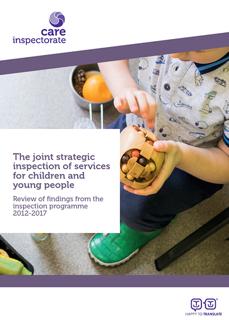 The joint strategic inspection of services for children and young people: Review of findings from the inspection programme 2012-2017 image