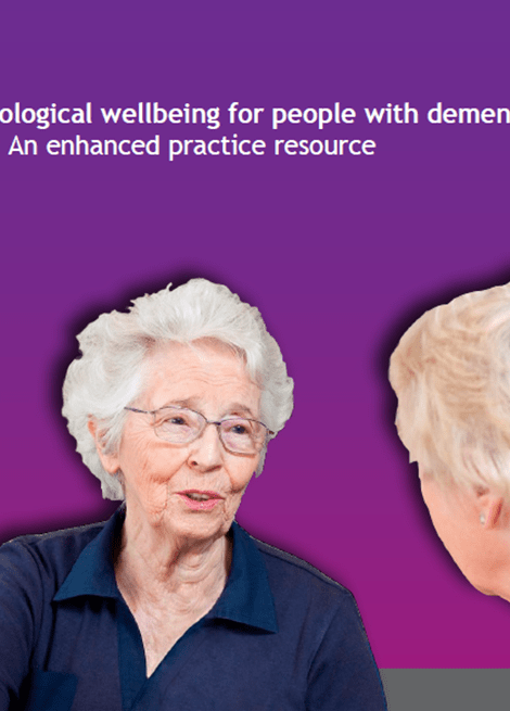 Promoting psychological wellbeing for people with dementia and their carers: An enhanced practice resource image