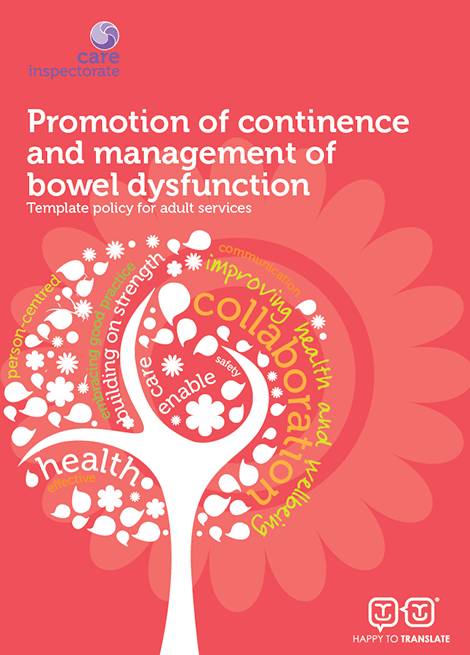 Promotion of continence and management of bowel dysfunction: Template policy for adult services image