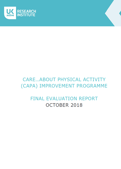 CARE…ABOUT PHYSICAL ACTIVITY (CAPA) IMPROVEMENT PROGRAMME FINAL