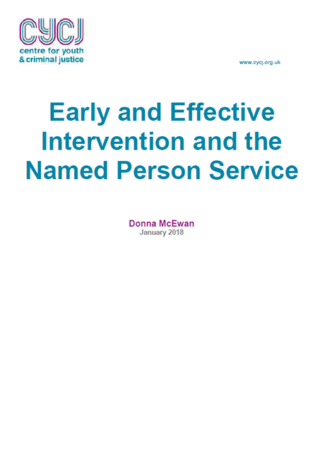 Early and Effective Intervention and the Named Person Service image