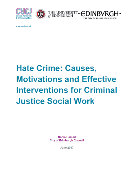 Hate Crime: Causes, Motivations and Effective Interventions for Criminal Justice Social Work image