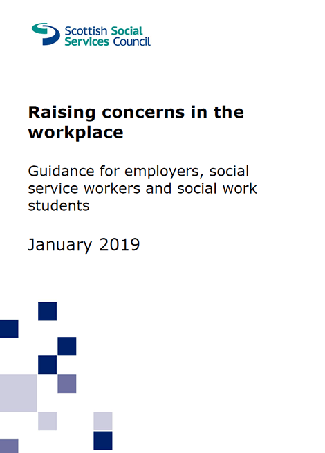 Raising concerns in the workplace: Guidance for employers, social service workers and social work students image