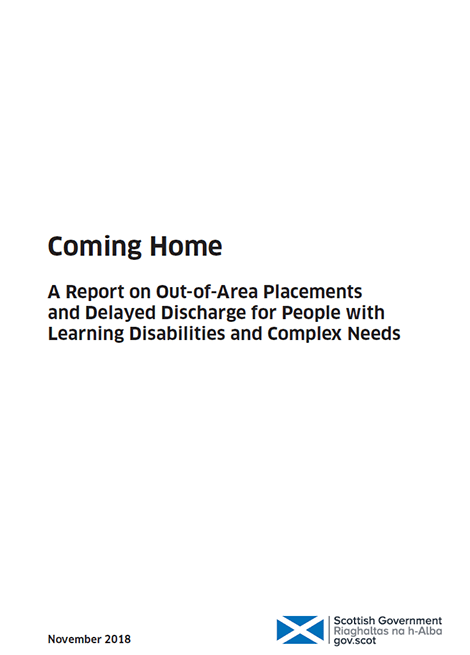 Coming home: A Report on Out-of-Area Placements and Delayed Dishcharge for People with Learning Disabilities and Complex Needs image