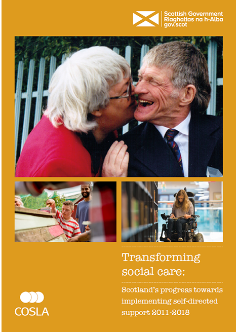 Transforming social care: Scotland's progress towards implementing self-directed support 2011-2018 image