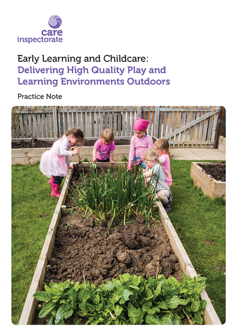 Early Learning and Childcare: Delivering High Quality Play and Learning Environments Outdoors Practice Note image