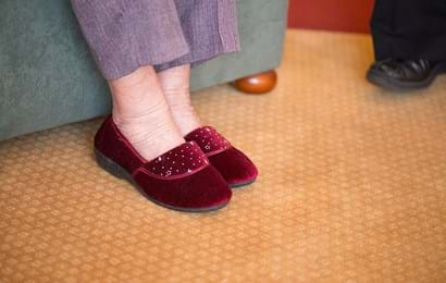 A pair of ladies slippers