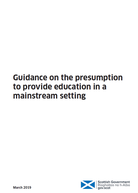 Guidance on the presumption to provide education in a mainstream setting image