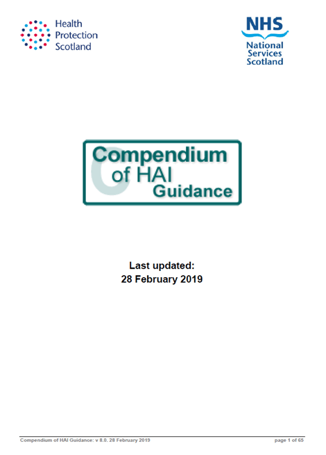 Compendium of Healthcare Associated Infection Guidance image