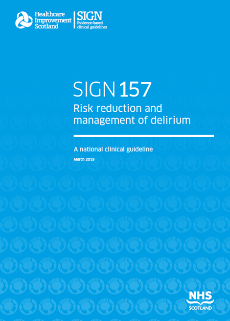 SIGN 157: Risk reduction and management of delirium image
