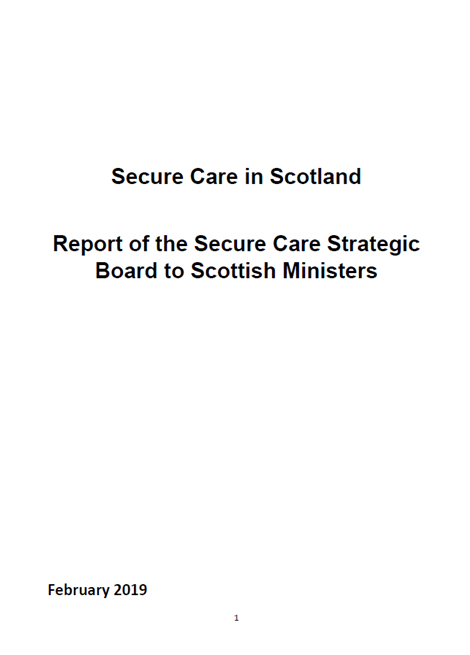 Secure Care Strategic Board: report to Scottish Ministers image