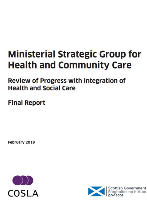 Ministerial Strategic Group for Health and Community Care - Review of Progress with Integration of Health and Social Care - Final Report image