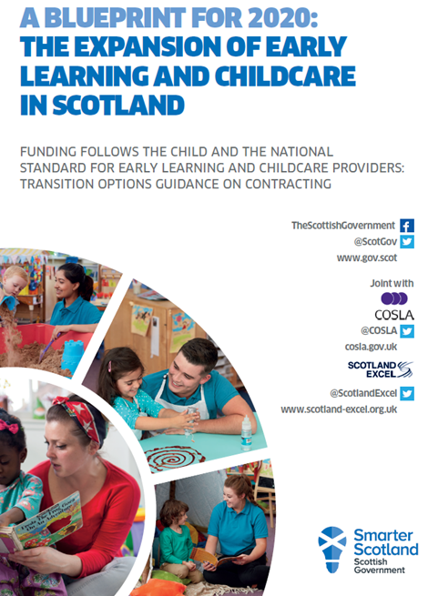 Funding follows the child and the national standard for early learning and childcare providers - transition options guidance on contracting image