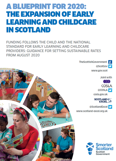 Funding follows the child and the national standard for early learning and childcare providers- guidance for setting sustainable rates from August 2020 image