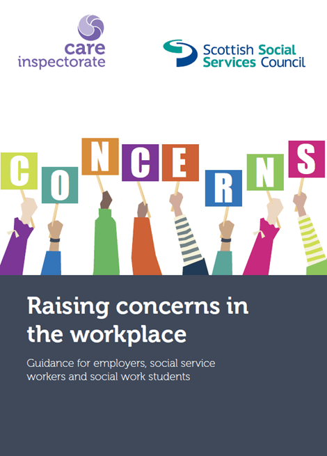 Raising concerns in the workplace. Guidance for employers, social service workers and social work students image