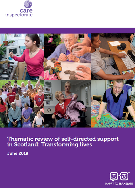 Thematic review of self-directed support in Scotland: Transforming lives image