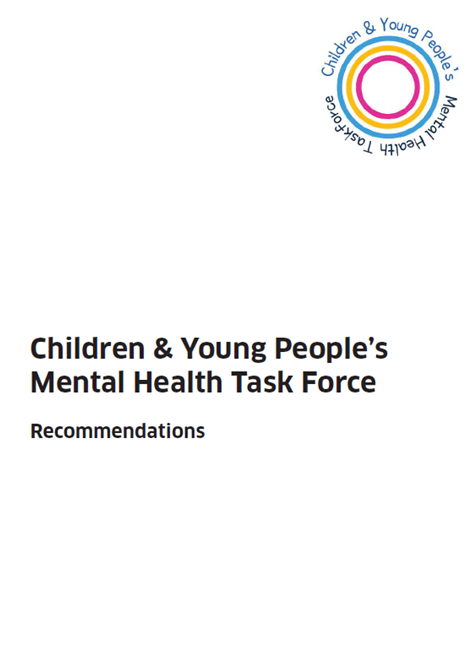 Children & Young People's Mental Health Task Force Recommendations image