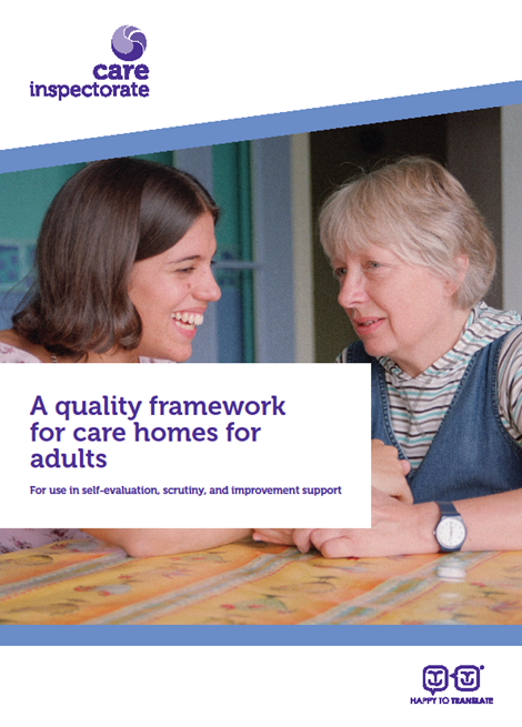 A quality framework for care homes for adults image