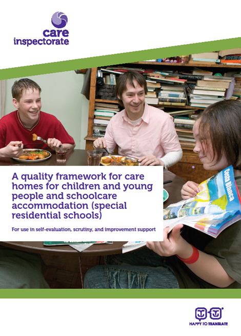 A quality framework for care homes for children and young people and school care accommodation image