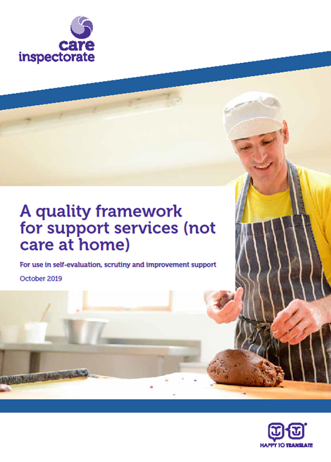 A quality framework for support services (not care at home) image