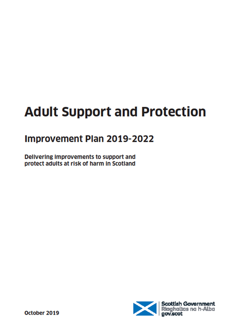 Adult support and protection improvement plan: 2019-2022 image