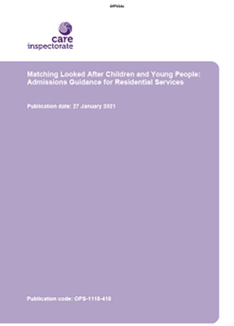 Matching Looked After Children and Young People: Admissions Guidance for Residential Services image