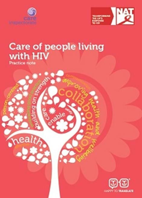 Care of people living with HIV: Practice note image