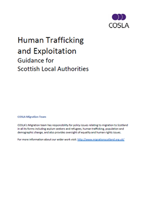 Human Trafficking and Exploitation: Guidance for Scottish Local Authorities image
