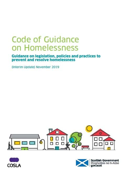 Code of Guidance on Homelessness: Guidance on legislation, policies and practices to prevent and resolve homelessness (interim update) image