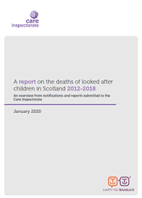 A report on the deaths of looked after children in Scotland 2012-2018 image