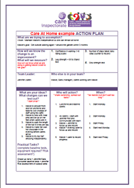 Care at Home Improvement Action Plan image