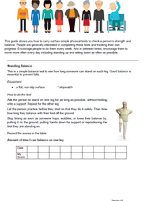 Useful tests to support older people track their physical improvement image