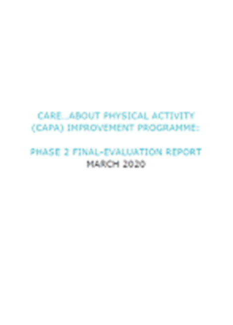 Evaluation of the Care about Physical Activity Programme image